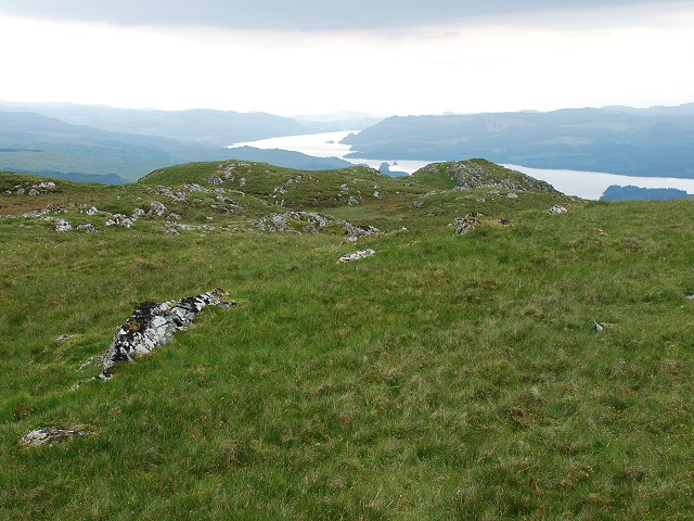 View west from Ballimeanoch trig