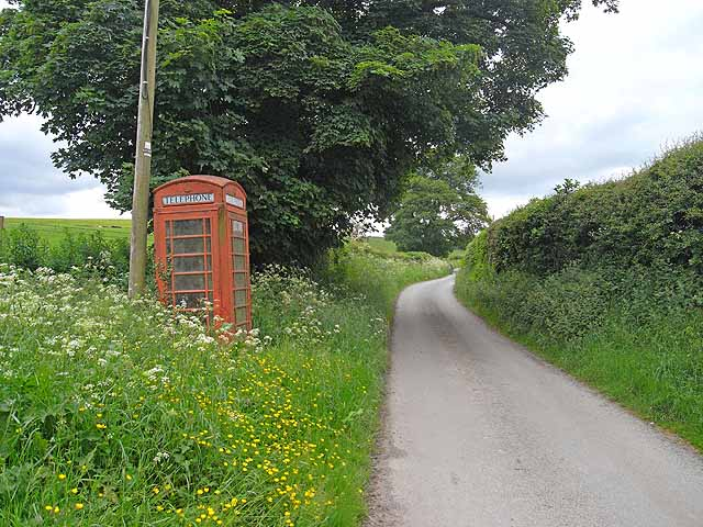 Phone box at Dog and Duck Cottage