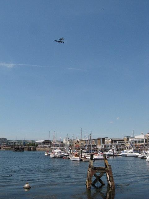 BoB memorial flight over Cardiff Bay