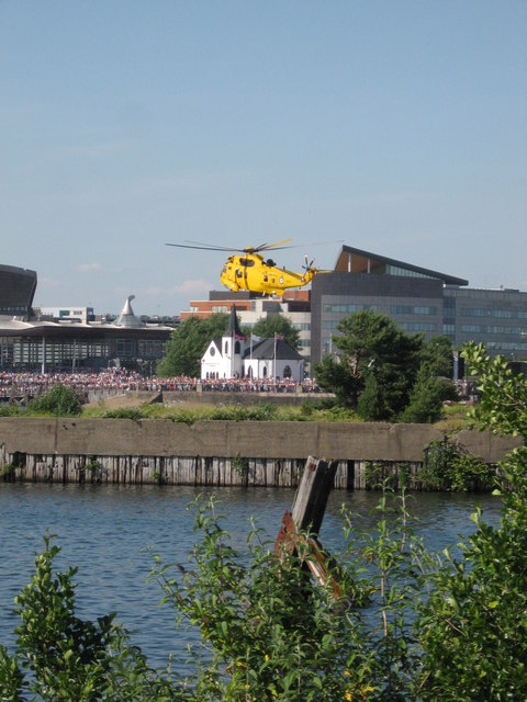 Sea King display, Cardiff Bay