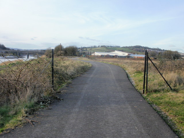 Usk riverside path, Newport