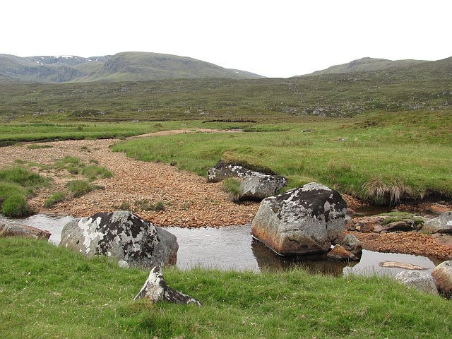 Granite boulders, Glen Roy