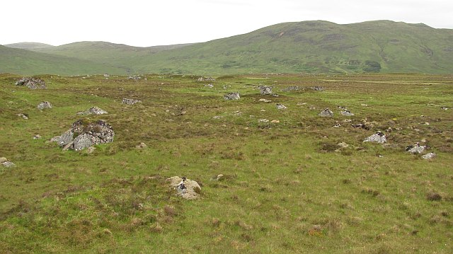 Granite boulders, Glen Roy
