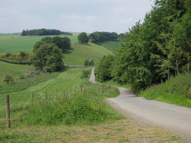 Country road above Hillhouse