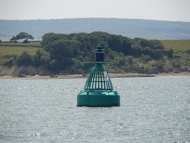 Salt Mead Starboard Channel Buoy and foreshore