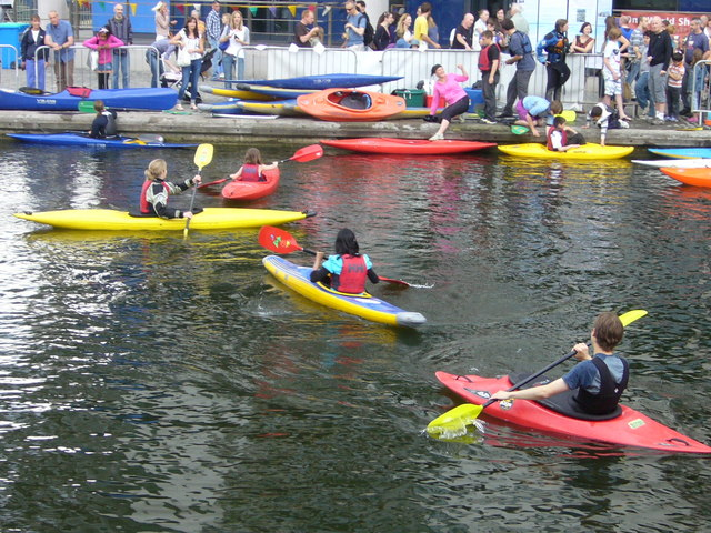 Canoes at Edinburgh Quay