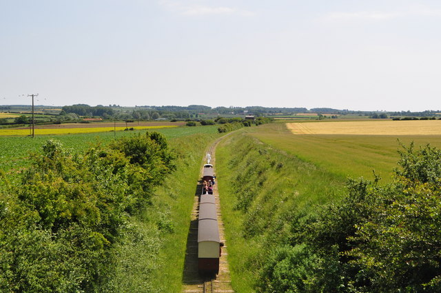Train nearing Wighton Halt