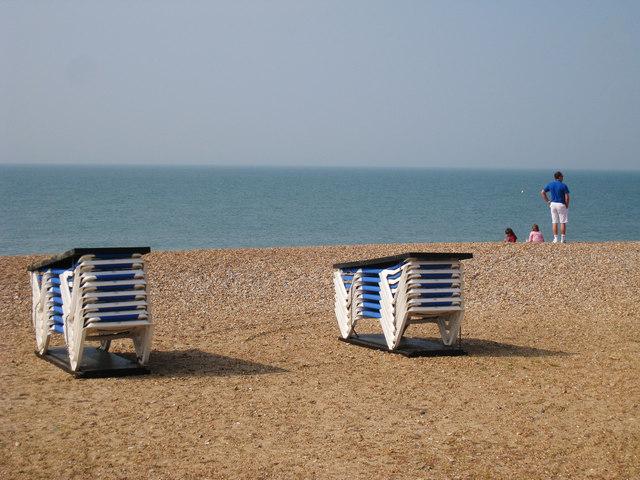 Sun Loungers on Pelham Beach