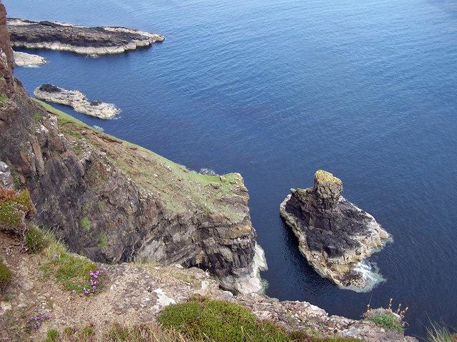 Sea stack at Idrigill Point