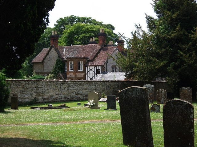 Intriguing house next to churchyard at Butlers Marston