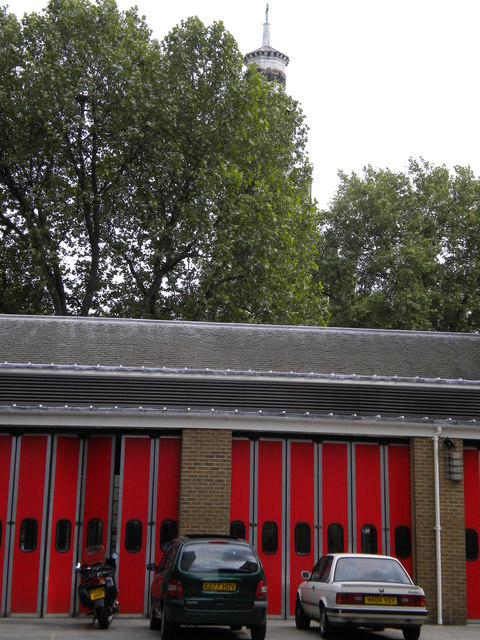 Rear of Euston Fire Station, Grafton Place NW1