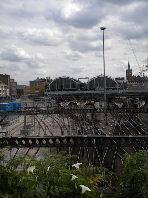 Railway tracks and King's Cross Station
