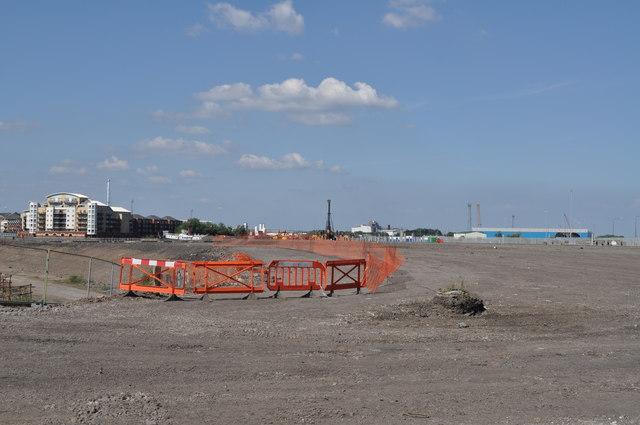 The site of the new BBC Drama Centre