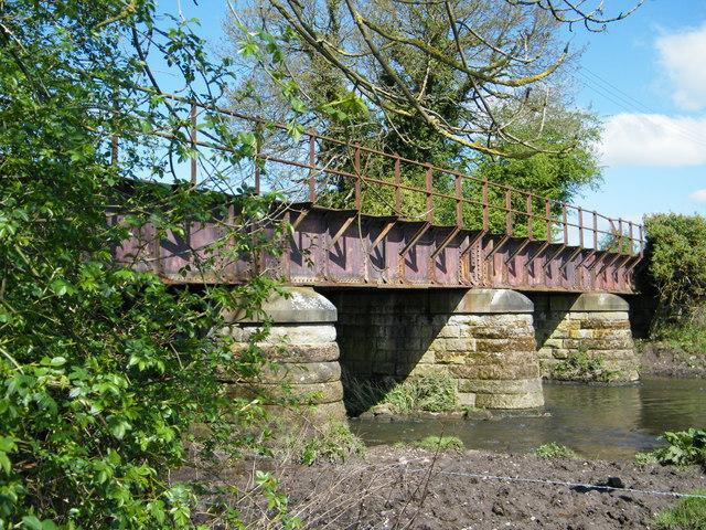 Old railway bridge over river Blythe