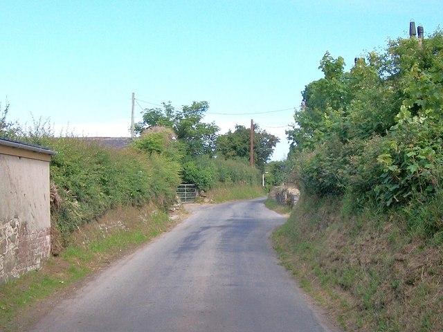 View southwards along Lon Fawr