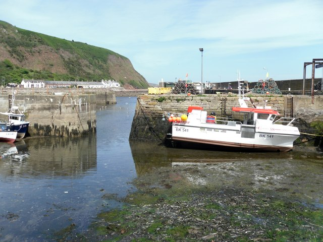 The Entrance to Burnmouth Inner Harbour