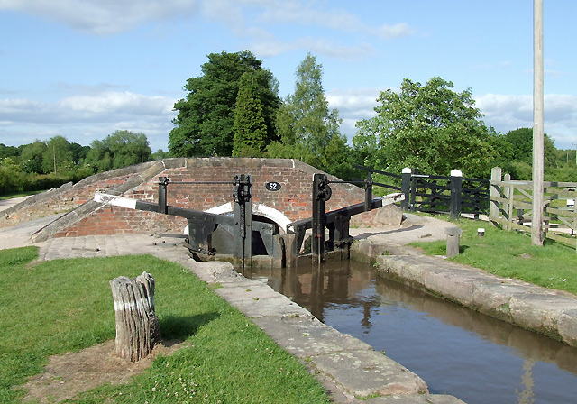 Shadehouse Lock and Bridge 52, Fradley, Staffordshire