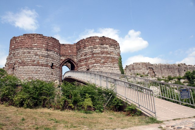 The bridge and gatehouse of Beeston Castle