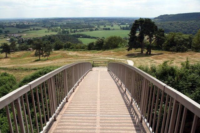 The modern bridge at Beeston Castle