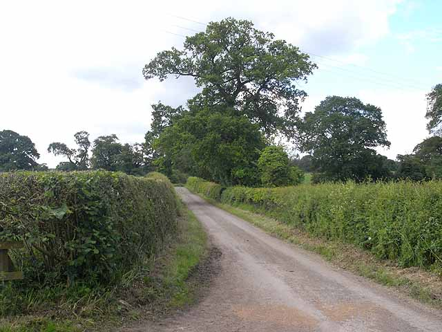 Lane near Sidnall Farm