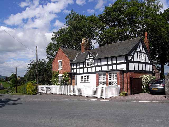 Half-timbered house at Chirbury
