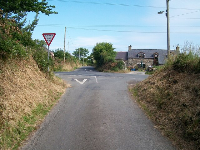 Glanrhyd Crossroads from the south