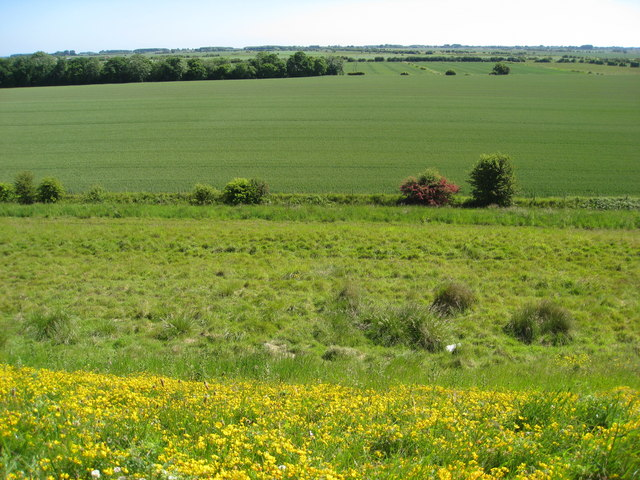 Farmland viewed from Covenham reservoir