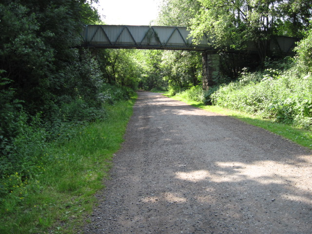Footbridge over Staffordshire Moorlands Walks footpath