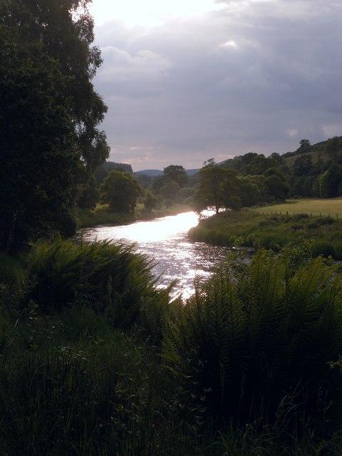 Last light on the River Tweed, Caddonfoot