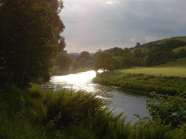 Dusk on the River Tweed, Caddonfoot