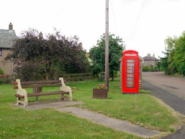 Telephone box on Branxton green