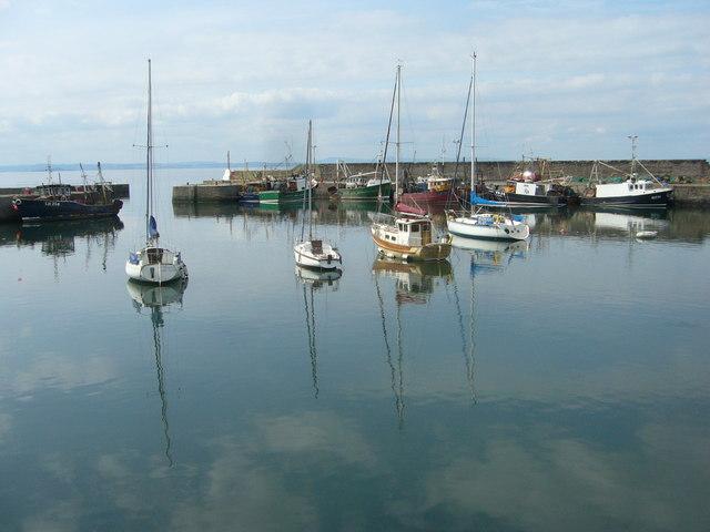 Boats in Port Seton Harbour