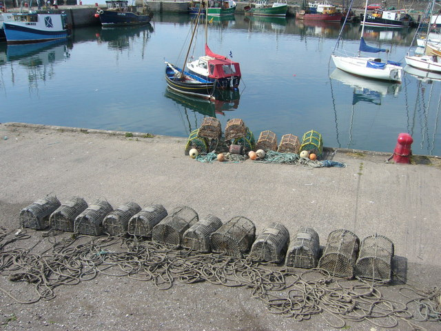 Lobster creels in Port Seton Harbour