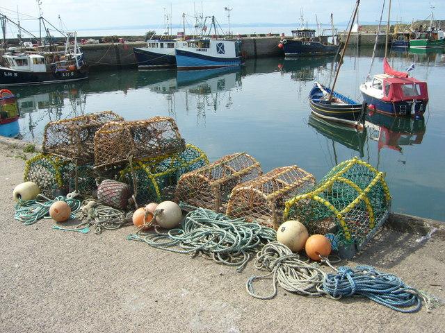 Lobster creels at Port Seton
