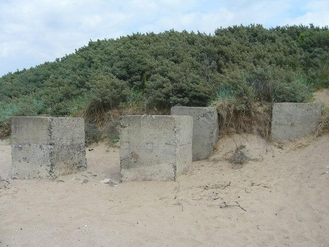 Tank obstacles, Longniddry Bents