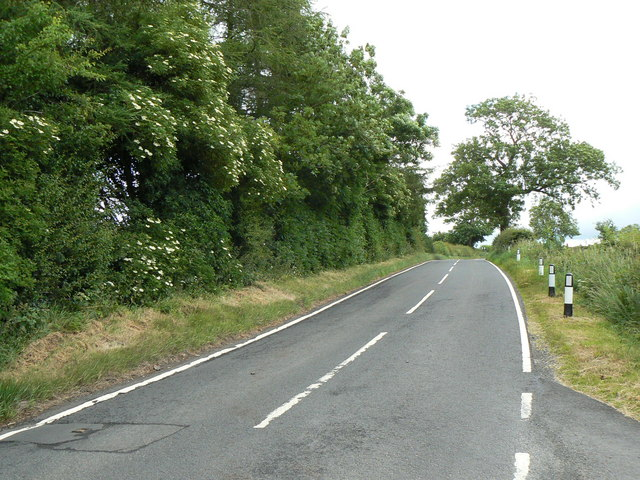 B778 road near South Kilbride Farm