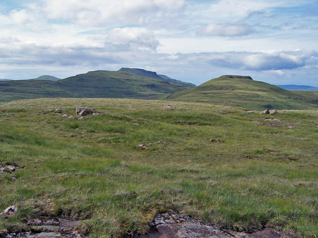 Flat topped hills