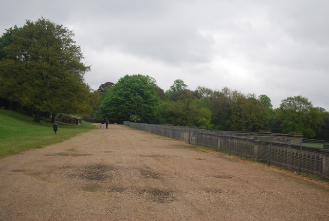 Path behind the remains of the Crystal Palace
