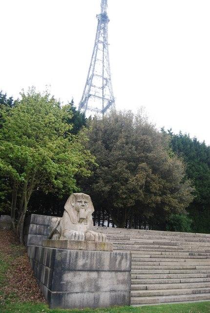 A sphinx & TV mast, Crystal Palace