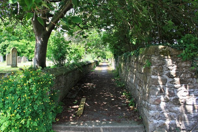 Footpath by the Churchyard, West Tanfield