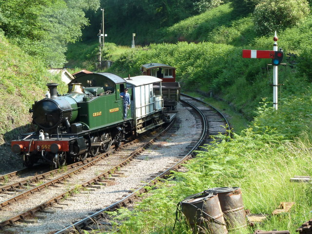 Dean Forest Railway - the approach to Norchard Low Level Station