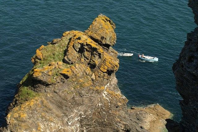 Rock below Sharp Tor