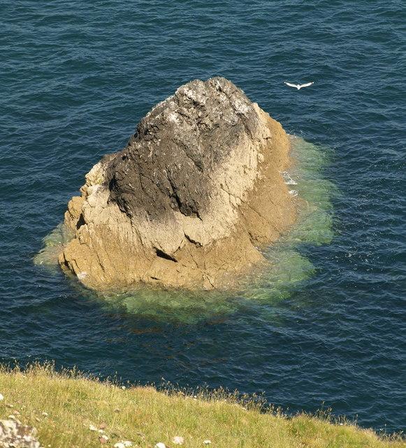 Rocky islet below Sharp Tor
