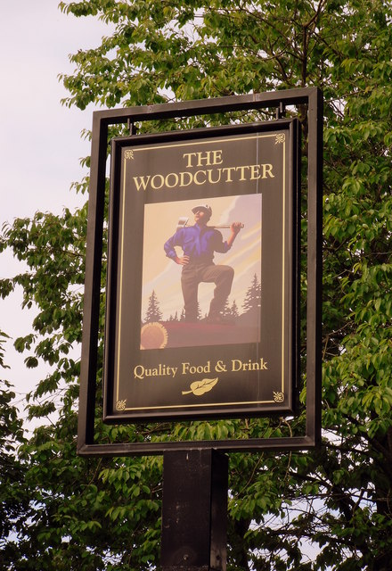 The Woodcutter sign in Cumbernauld
