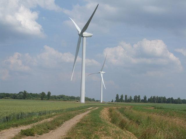 Wind Turbines at Rusholme Wind Farm
