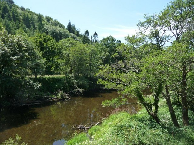 River Dart with Park Copse behind