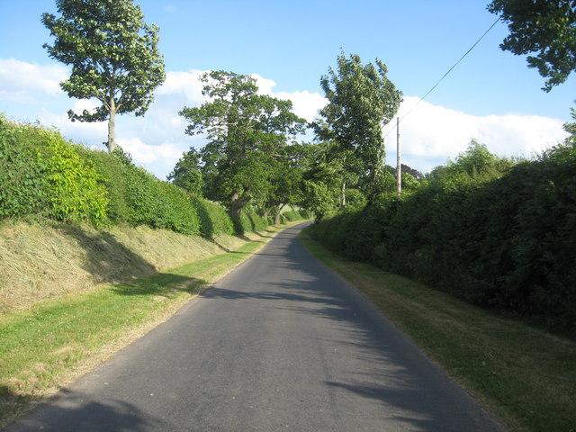 The road continues past Kelloe Mains