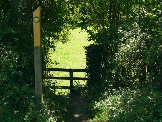 Footpath and stile to Freeholt Wood