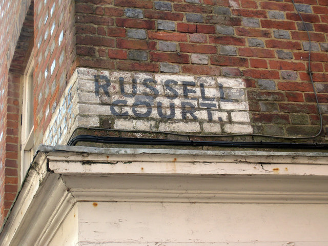 Russell Court Painted Sign