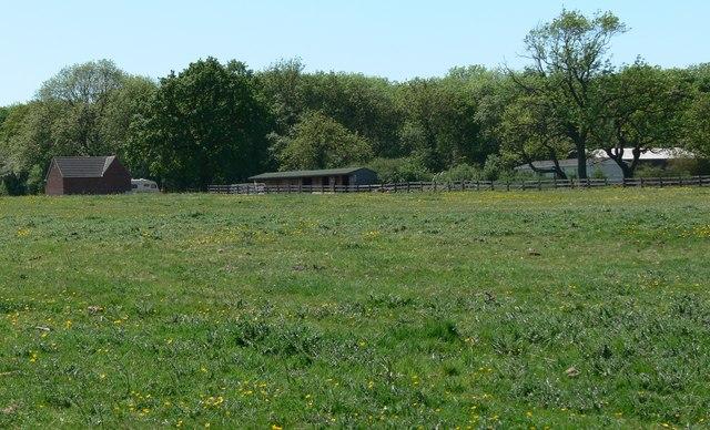 Buildings near Aston Firs